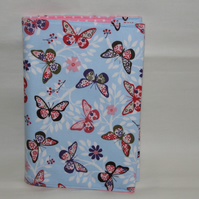 Handmade Padded Cotton Book or Journal Cover