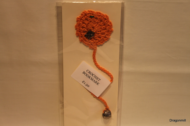 Crochet Bookmark with Charms