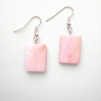 Pink Shell Earrings, Shell Earrings