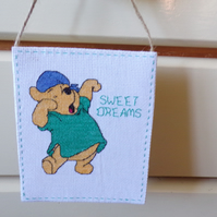 Winnie The Pooh Wall Hanger, Nursery Picture
