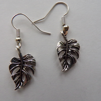 Silver Leaf Earrings, Earrings, Leaf Earrings