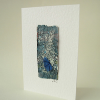 Seashore Art Card with sea glass