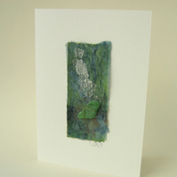 Seashore Art greeting card with sea glass