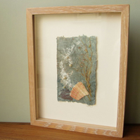 Seashore Treasure II, original mixed media and textile art