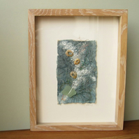 Seashore Treasure III, original mixed media and textile art