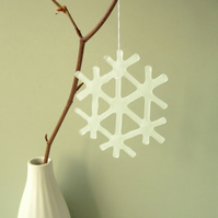 Fused Glass Snowflake, Christmas Decoration
