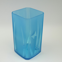 Blue Glass Vase, recycled bottle vase
