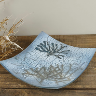 Blue Art Glass Dish