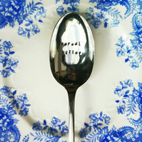 Cereal Killer Hand Stamped Vintage Table Spoon