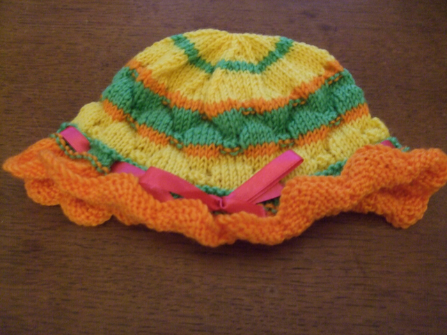 Colourful Beanie Style Baby-Toddler Hat
