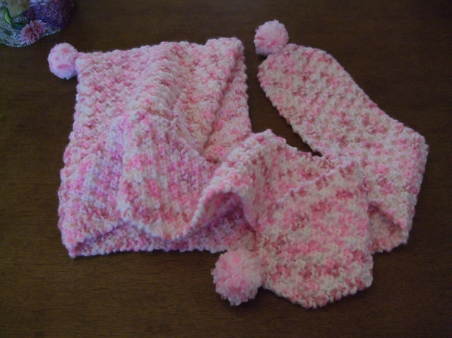 Child's Snuggly Hooded Scarf