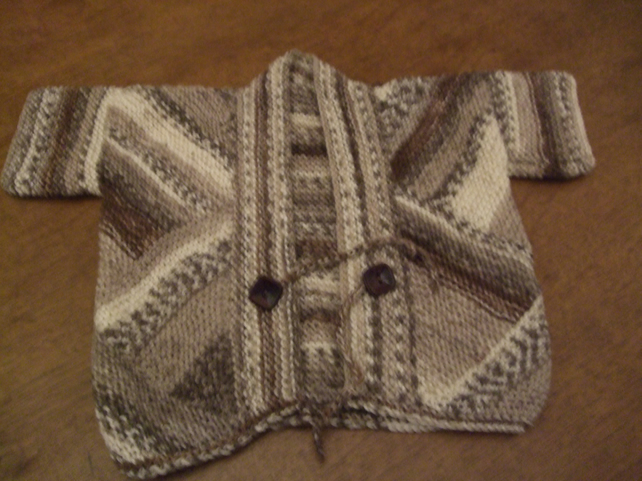 Hand Knitted Baby Kimono Style Jacket 3-6mnths