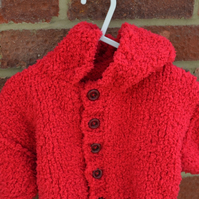 Red Snuggly Baby Jacket 6-9mnths