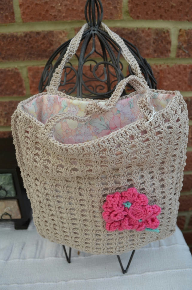 Fully Lined Crochet Bag - Ideal to keep your iPad safe!