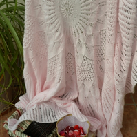 Beautiful Circular Lace Baby Shawl