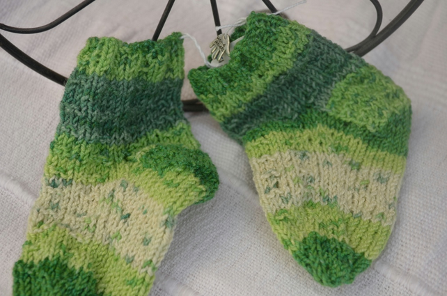 Multi-green baby socks