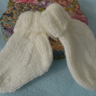 Gorgeous for little him or her - tiny boot socks