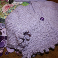 Premature Baby Cardigan and Hat Set