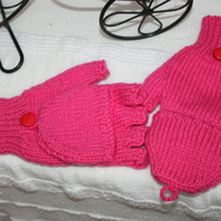 Child's Fingerless Gloves with Mitten Tops