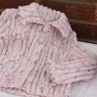 Handknitted Cable Cardigan 1-2yrs