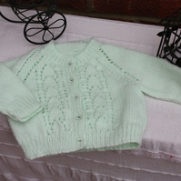 Beautiful Mint Green Baby Cardigan