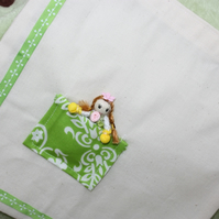 Little Calico Bag with Pocket Princess