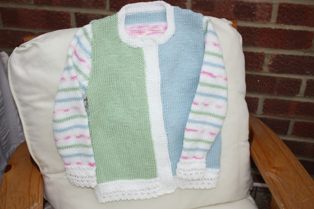 Beautiful Lace-edged Toddler's Cardigan Age 4yrs