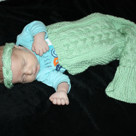 Beautiful Green Mermaid Snuggle Baby!