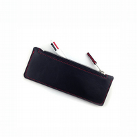 Leather Pencil Case Red, Tool Case, Brush case, Makeup Case, Pencil Organiser