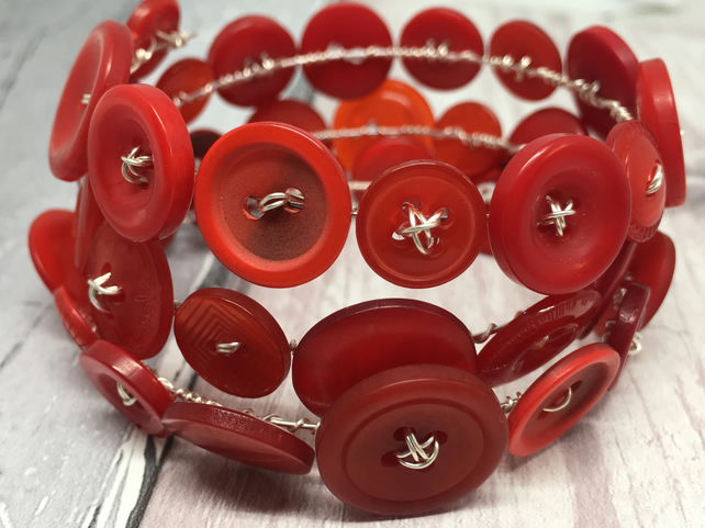 Red button bracelet