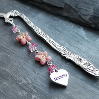 Mummy bookmark, pink flowers, Mother's Day gift