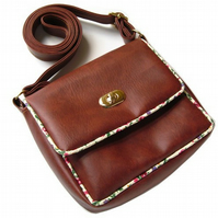 Cross body bag - brown satchel