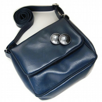 Cross body bag - blue mini satchel