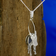 Sterling silver 3D Horse Pendant - Free UK postage