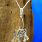 Sterling silver 3D Frog Pendant