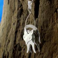 Sterling silver 3D Fox Pendant - Free UK postage