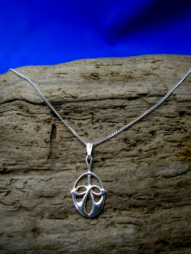 P3 Sterling Silver Celtic - Art Nouveau Pendant - Free UK postage