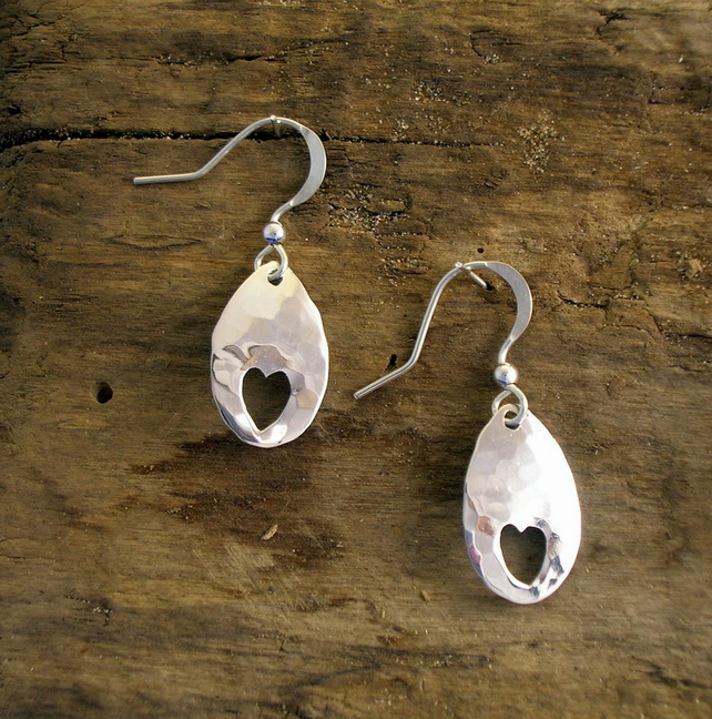 DE 102 Silver Earrings - Free UK postage