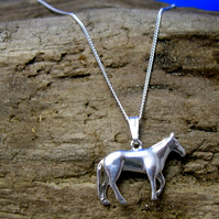 Sterling Silver Horse Pendant P39 - Free UK postage