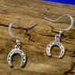 Sterling Silver Horseshoe Earrings - Free UK postage