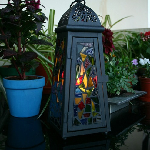 Stained Glass Mosaic Lantern