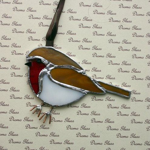 Christmas Robin Sun Catcher