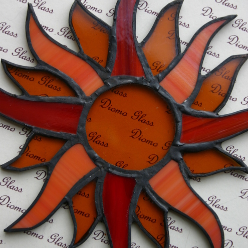 Golden Sun Glass Sun Catcher