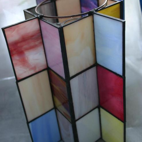 Patchwork Glass Samples Lampshade