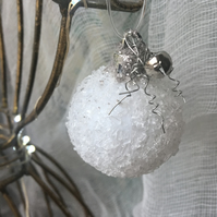 christmas bauble - vintage icy bauble