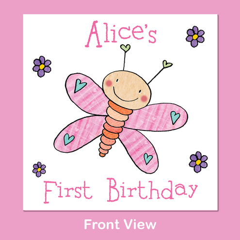 Pretty Butterfly Birthday Party Invitation - sample - made to order