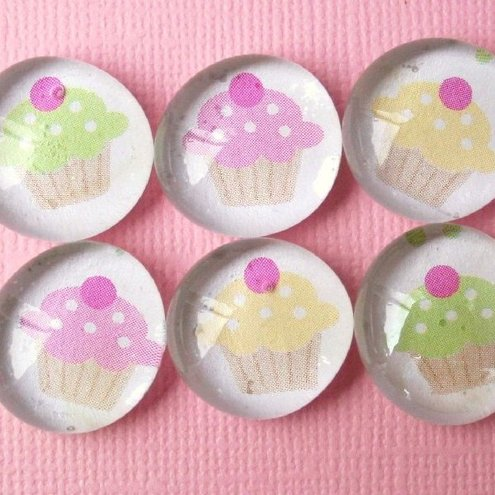 Pretty marble magnets...set of 6 with gift box