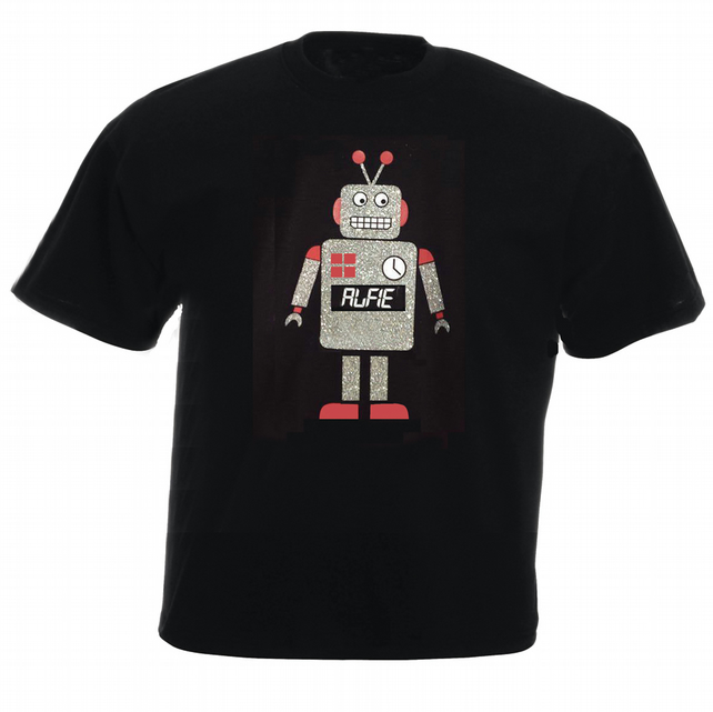 Retro Robot Personalised T-shirt