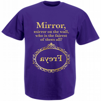 'Mirror, Mirror' Personalised T-shirt