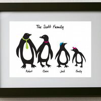 Personalised Penguin Family